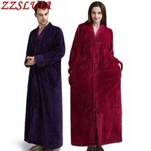 Robes Designer Nightgown Sleepwear Pajamas Flannel Winter V-Neck Zipper Thick Lovers