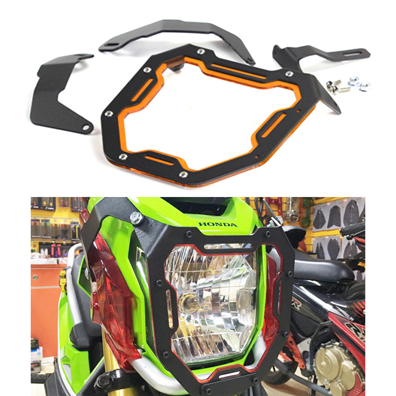 Motorcycle Head Light Mask For Honda Zoomer X110 Headlight Aluminum Alloy Protect Shield Motor Accessories
