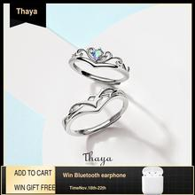 Thaya S925 סטרלינג כסף טבעות Creative עיצוב פיות פירות טבעות זוג טבעת לחתונה תכשיטי אירוסין ומתנות