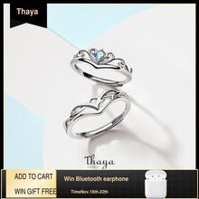 Thaya anillos de plata de ley 925 con diseño creativo de frutas de hadas, joyería fina de compromiso para boda