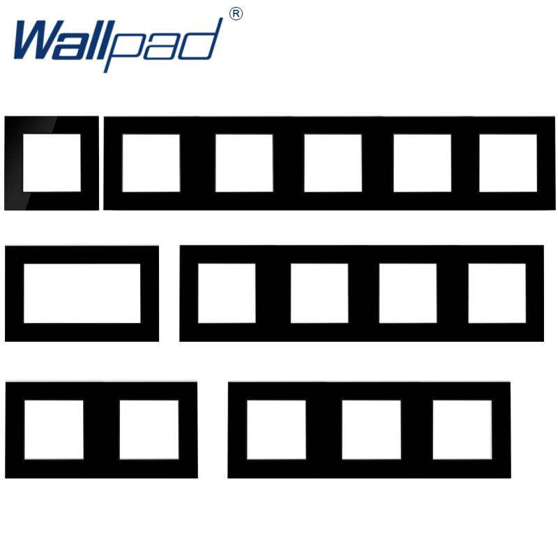 Wallpad Luxury Tempered Glass Panel Frame Black Hotel Panel Vertical And Horizon Frame 1 2 3 4 5 Frames Panel Only
