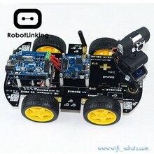 Умный автомобильный комплект роботов с Wi Fi для arduino, iOS, видео, автомобильный робот, беспроводной пульт дистанционного управления, Android, ПК, мониторинг видео