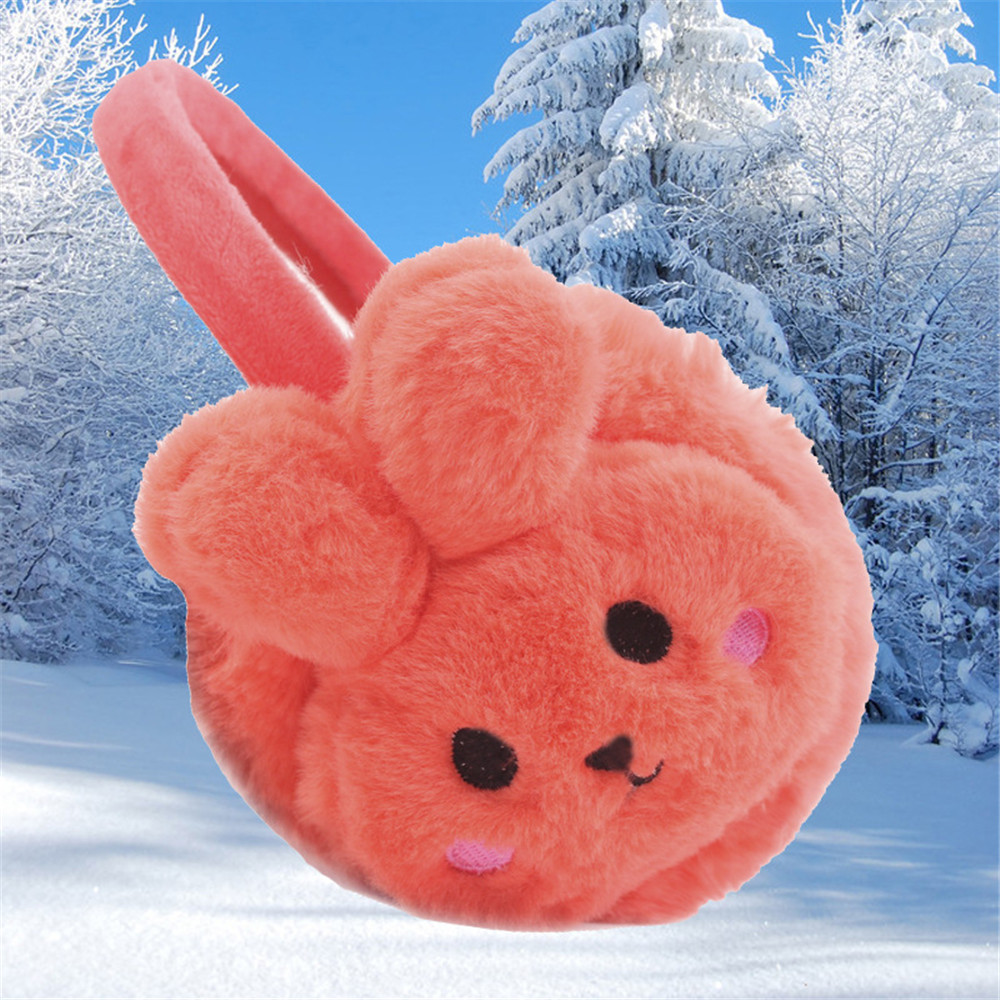 1PC New Cute Autumn Winter Women Warm Earmuffs Rabbit Cartoon Girls Thicken Cotton Warmth Ear Muffs Ear Protection
