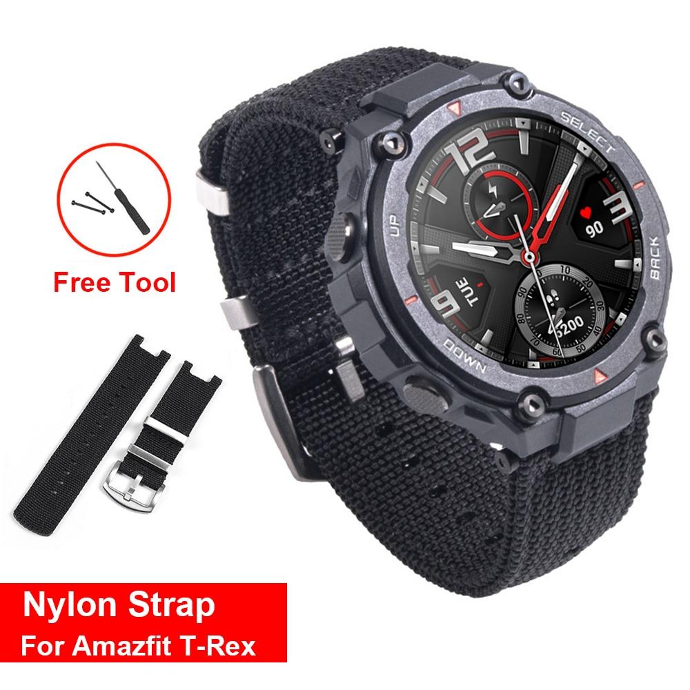 Nylon Watchband Band For Amazfit T Rex T-Rex Smart Watch Wrist Strap Replacement Accessories Bracelet Correa ремешок