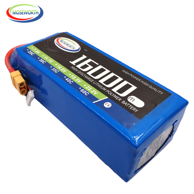 New Batteries 6S 22.2V 16000mAh 30C RC LiPo Battery For RC Helicopter Drone Quadcopter Airplane Car Boat Truck 22.2V 16A LiPo|Parts & Accessories| |  -