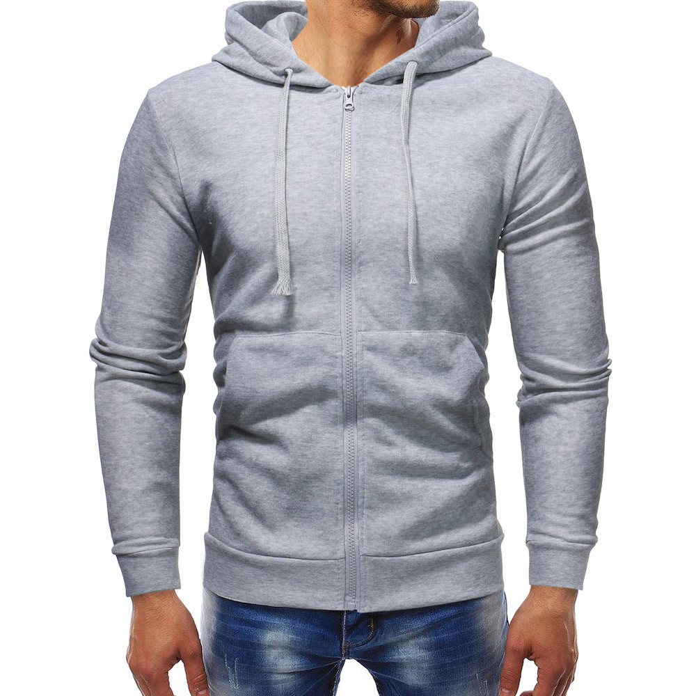 Mens' Autumn Winter Long Sleeve Casual Hoodie Pullover Sweatshirt Outwear Tops Men Sports Casual Zipper sudadera hombre NEW