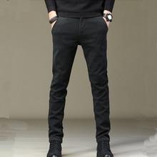 Warm Winter Plus pantaloni in velluto uomo 2020 nuovo autunno inverno tessuto di lana pantaloni Casual da uomo ispessimento pantaloni da jogging