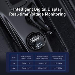 Image 2 - Baseus szybka podwójna ładowarka samochodowa USB do iphonea zestaw samochodowy Bluetooth z nadajnikiem FM odtwarzacz MP3 ładowarka do telefonu Samsung Xiaomi