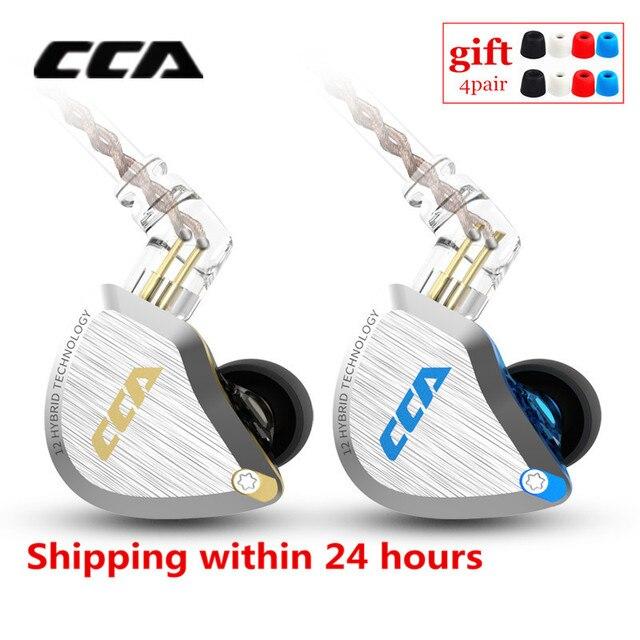新しいcca C12 1DD + 5BAハイブリッドin 耳イヤホンハイファイ金属ヘッドセット音楽スポーツイヤホンZS10 プロAS12 AS16 zsx C16 C10 A10 V90