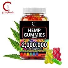 Catfit urso bonito cânhamo essência óleo gummies ansiedade alívio do estresse ajuda sono infundido gummies lazer petiscos/óleo essencial