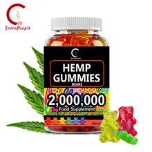 GPGP Greenpeople Hanf Essenz Gummies Fudge Angst Stress Relief Helfen Schlaf Infundiert Gummies Freizeit snacks für erwachsene und kind