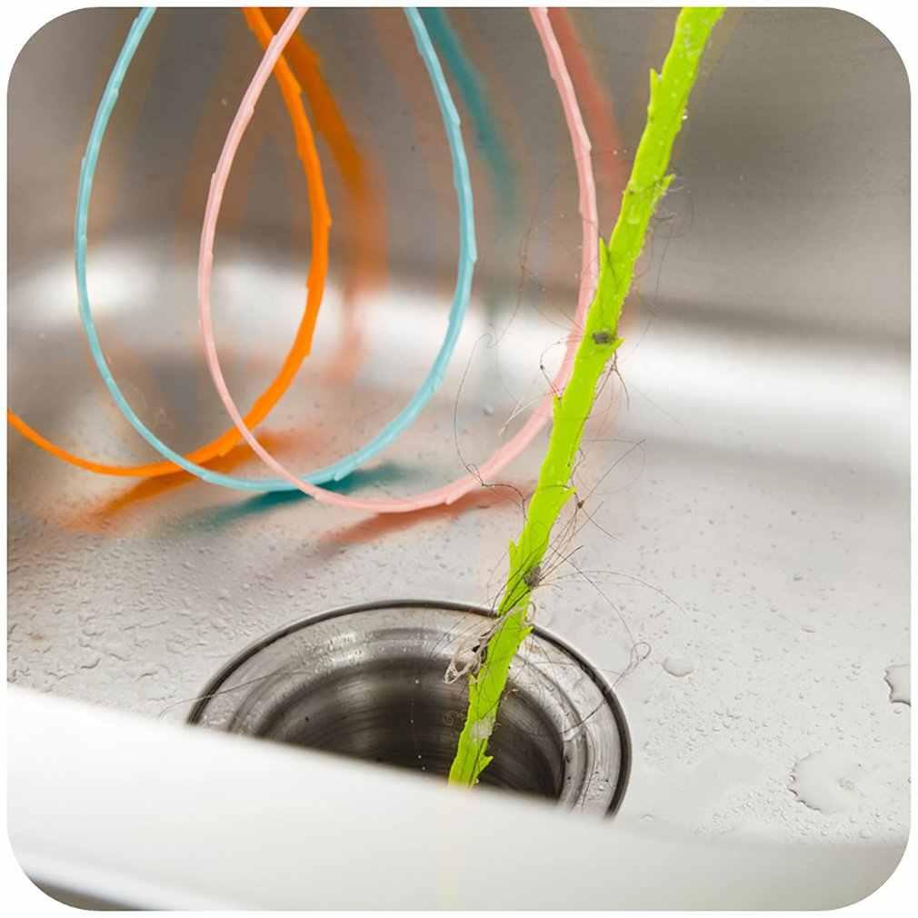 51 ซม.ห้องน้ำอ่างล้างจานท่อทำความสะอาดท่อทำความสะอาดผมกำจัดห้องน้ำฝักบัวท่อระบายน้ำ Clog สายยาวตะขอพลาสติก