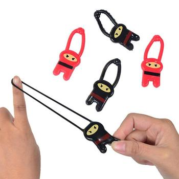 Hot Selling Funny Tricky Toy TPR Ninja Launcher Finger Ejection Toy image