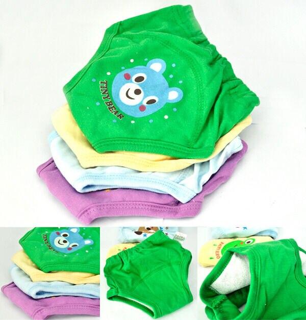 4 Pcs Baby Newborn Girl Boy Cute 4 Layers Cartoon Waterproof Potty Training Pants Reusable 2019
