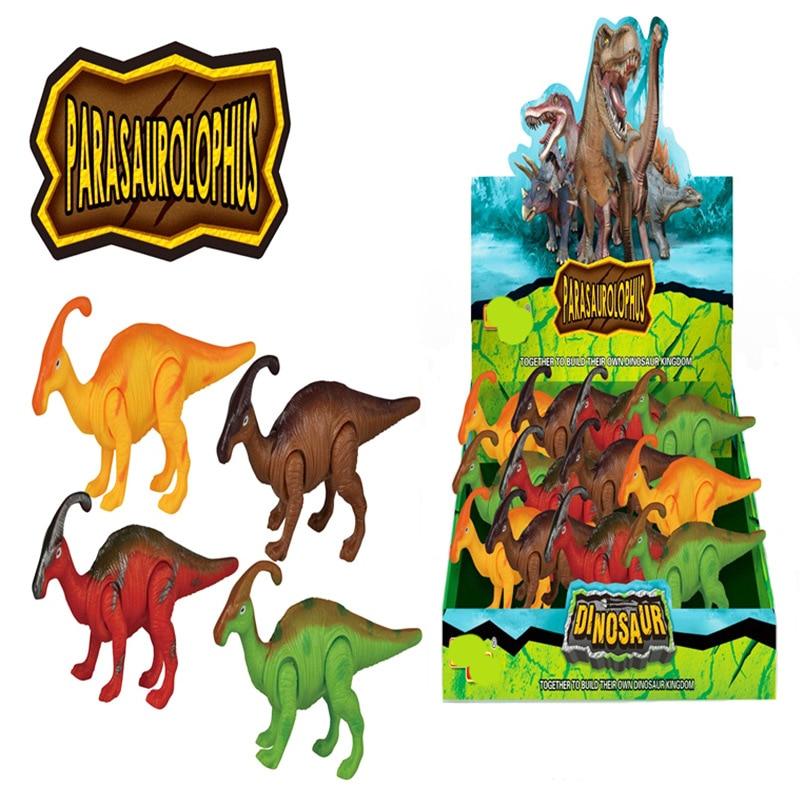 CHILDREN'S Toy Spring Dinosaur Jurassic Winding Dinosaur Children'S Educational Spring-Winding Dinosaur Toy