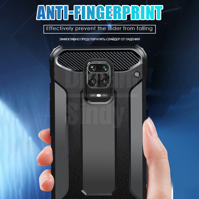 Luxury Armor Shockproof Phone Case For Xiaomi Redmi Note 9S 9 8 7 Pro Max 8T K30 Pro K20 8A 7A PC Silicone Full Protective Cases