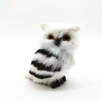 10 pieces a lot cute real life owl models plastic&furs white owl dolls gift about  7cm xf2726