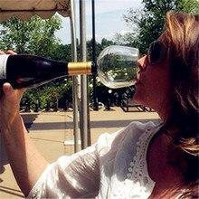 Творческий красное вино бокал для шампанского стакан с силиконовым уплотнением напиток прямо из бутылки Кристалл Стекло es Коктейль кружка