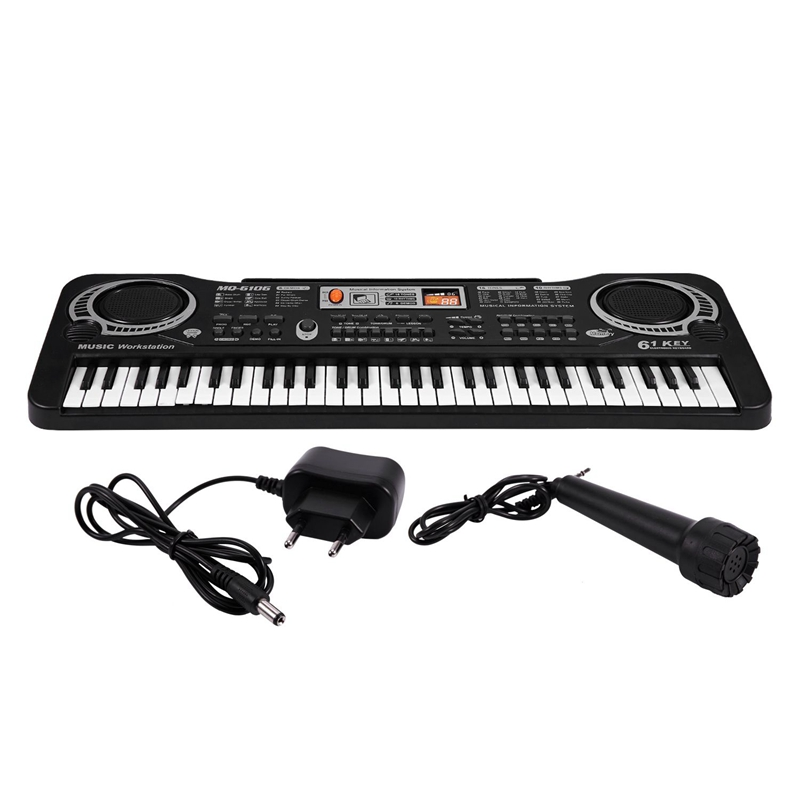 Mq 61 teclas de música digital teclado