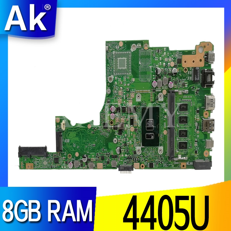 SAMXINNO For ASUS X405U X405UA X405UN X405UR X405URR X405UQ X405URP X405UF Laotop Mainboard X405UA Motherboard 8GB RAM 4405U CPU