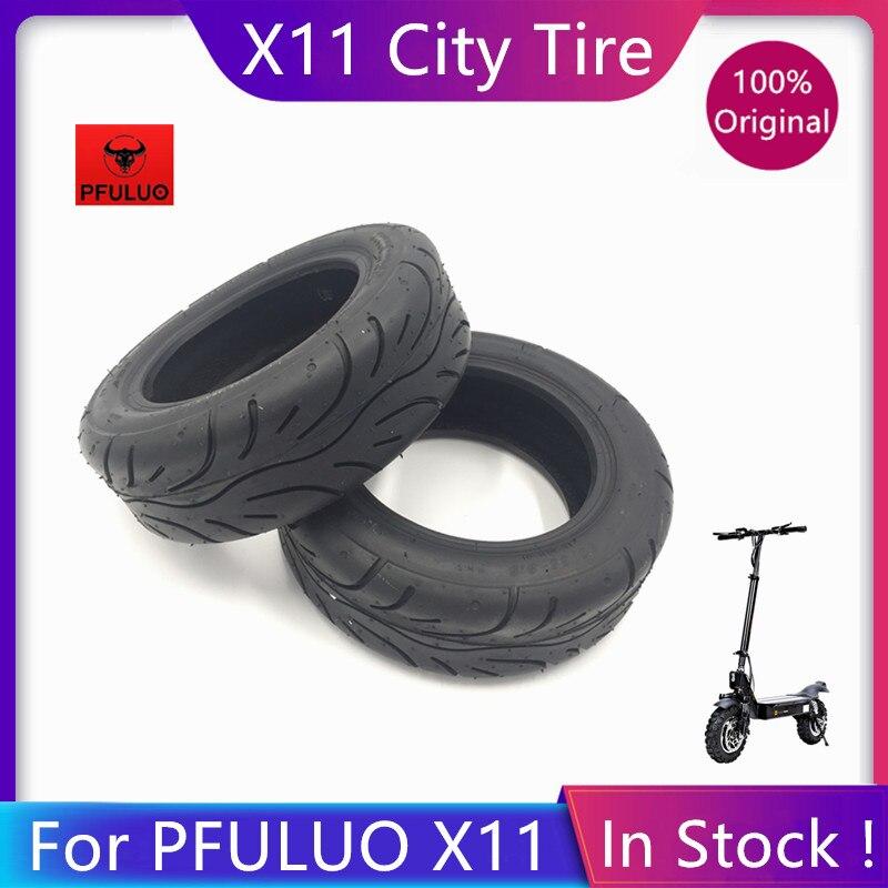 Оригинальная Нескользящая городская шина, 11 дюймов, для PFULUO X 11 Smart Electric KickScooter, Черное колесо, резиновая запасная внешняя шина