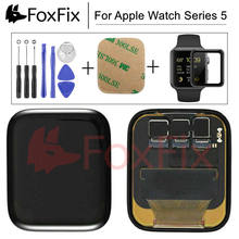 Para Apple Watch Series 5 pantalla LCD digitalizador de pantalla táctil S5 40mm/44mm reemplazo de pantalla para Apple Watch LCD + Vidrio Templado(China)