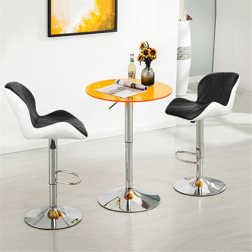 2PCS Swivel Bar Chairs European Adjustable Tank Bar Stool Home High Stool Bar Chair Fashion Leisure Leather Rotated Chair HWC