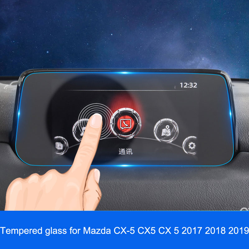 Tempered Glass For Mazda CX-5 CX5 2017 2018 2019 GPS Navigation Screen Steel Material Protective Film LCD Screen Film