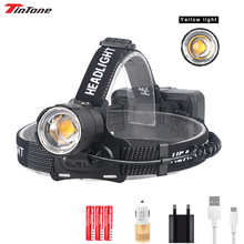 200000LM Headlamp XHP70.2 Warm Light Powerful LED Flashlight Zoomable XHP70 for Fishing Camping