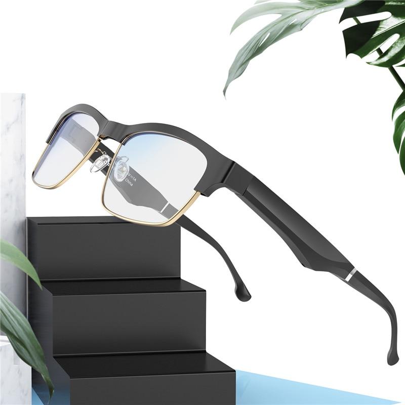 Ultra-light Smart Bluetooth Anti-blue Light Glasses Multi-function Call Semi-open Audio Casual Polarized Eyeglasses Business