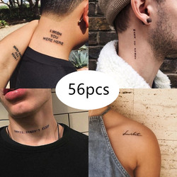 56pcs Tattoo Stickers Waterproof Temporary Tattoo Stickers Men and Women