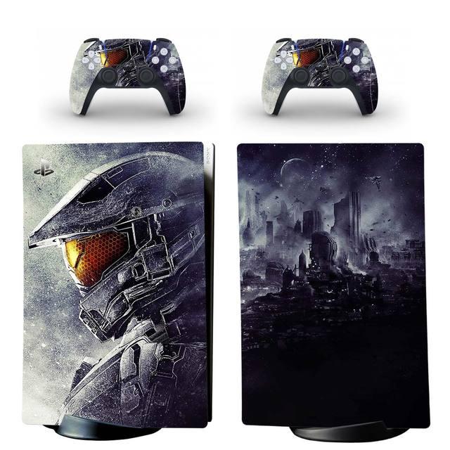 สงครามสไตล์ PS5ดิจิตอล Edition สติกเกอร์ผิวสำหรับ Playstation 5คอนโซลและ2ตัวควบคุมรูปลอกไวนิลสกินป้องกันสไตล์9