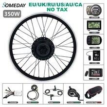 Один день 36 в 48 в 350 Вт комплект для преобразования электровелосипеда 16 20 24 26 27,5 28 дюймов 700C заднее вращающееся колесо ступицы мотора для вело...