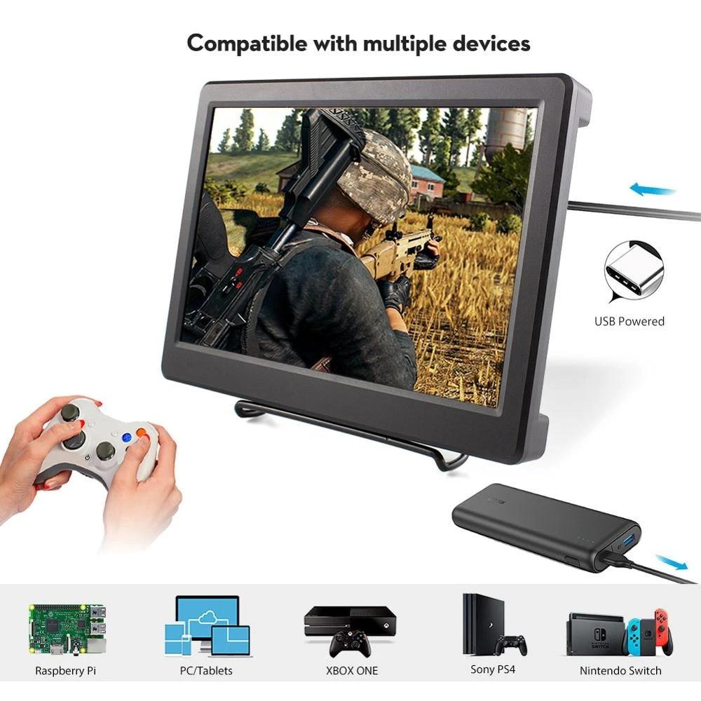 10 1 Inch Led Display Hdmi Lcd Portable Monitor Raspberry Pi Display 2560 1600p Resolution 2k Hdmi Computer Screen Laptop Lcd Screen Aliexpress