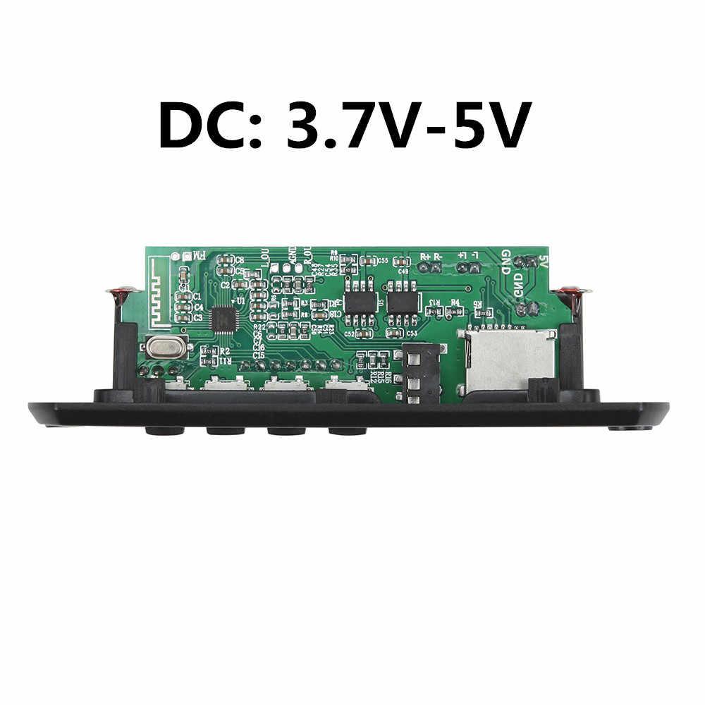 2*3 واط مضخم بلوتوث 5.0 مشغل MP3 فك مجلس 5 فولت 12 فولت سيارة راديو FM وحدة دعم FM TF USB AUX يدوي دعوة سجل