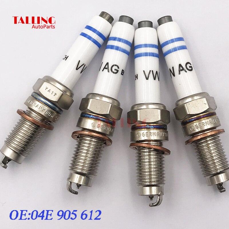 4PCS Iridium Bougie 04E905612 Voor Volkswagen Audi Skoda 1.4 Auto-onderdelen 04E-905-612 04E 905 612