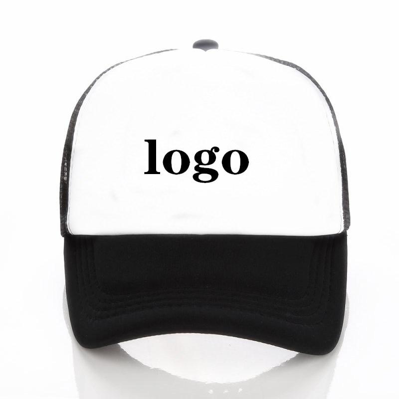 Aceitar 1 chapéu impresso livre design de logotipo personalizado logotipo impresso boné de beisebol masculino e feminino em branco boné de malha adulto crianças