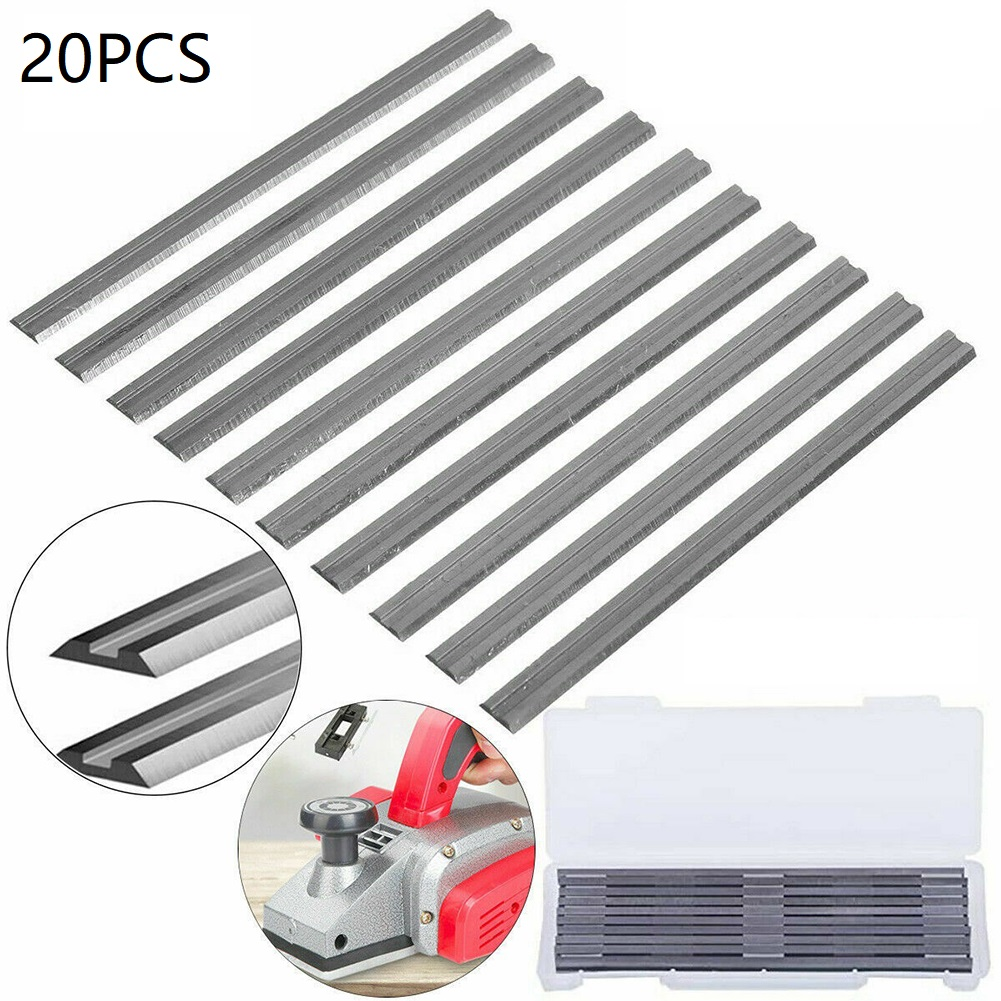 20Pcs 82mm Electric Planer Blades HSS Reversible Wood Planer Knives Woodworking Machinery Parts For Bosch Makita
