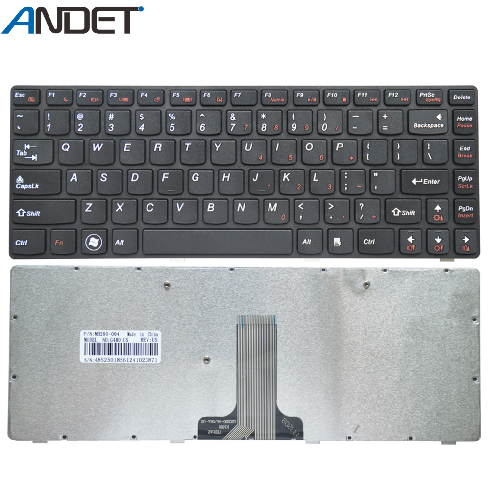 New US <font><b>Keyboard</b></font> for <font><b>Lenovo</b></font> G480 G480A G485 <font><b>Z480</b></font> English <font><b>Keyboard</b></font> Black image