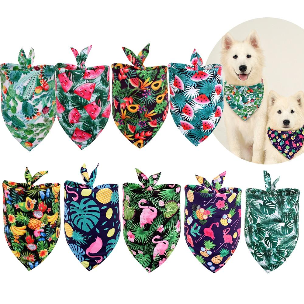 1Pcs Summer Dog Bandana Fruit Tropical Style Pet Cat Dog Bandanas Scarf Polyester Small Dogs Puppy Bandana Bibs Dog Accessories