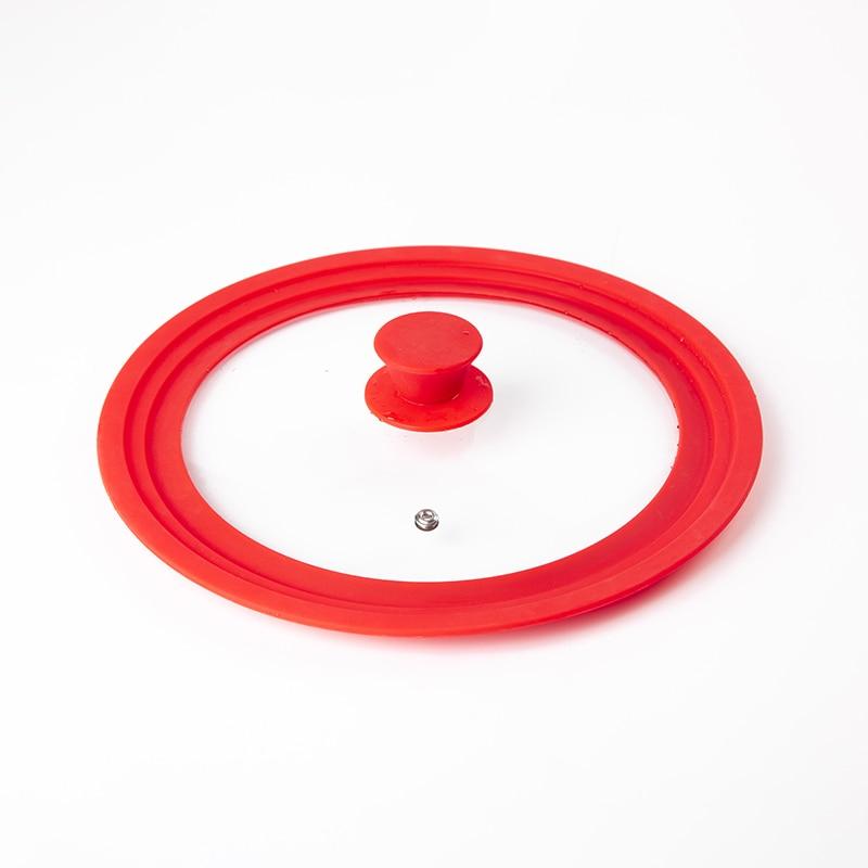 Tempered glass silicone pot lid, multi-size, universal, anti-overflow pot, good sealing, splash-proof