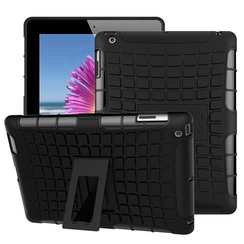 Гибридный трехслойный защитный противоударный Прочный чехол для iPad 2 iPad 3 iPad 4 тонкий Противоскользящий задний чехол для планшета A1395 A1396 A1430
