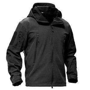 Image 2 - TACVASEN צמר טקטי מעיל גברים עמיד למים מעיל Softshell Windproof ציד מעילי טיולים בגדים חיצוני מחומם מעיל