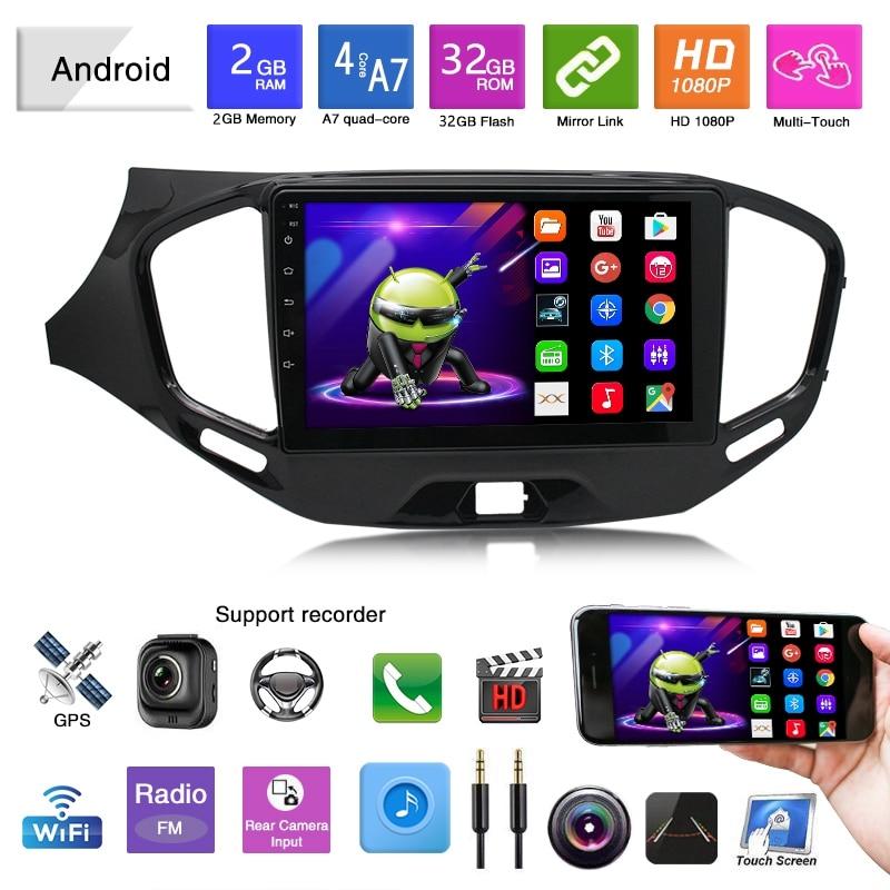 Android 9,1 2.5D автомобильный Радио мультимедийный видео плеер GPS навигация Мультимедиа для Lada VESTA 2015 2019 2 + 32|Мультимедиаплеер для авто|   | АлиЭкспресс