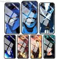 Funda de vidrio templado para iPhone, funda de protección de vidrio templado para teléfono móvil iPhone 12 Mini 11 Pro Max X XS XR 7 8 Plus SE 2020 6 6S