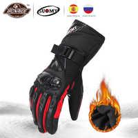 Suomie Moto gants hommes 100% imperméable coupe-vent hiver Gant Moto gants écran tactile Guantes Moto gants d'équitation