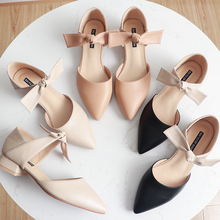 2020  2.5cm Square High Heels Shoes Woman Pumps PU Leather Butterfly Knot Heeled  Female Ladies Elegant Wedding Women Shoes
