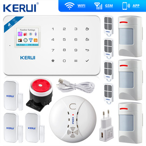 Image 2 - Kerui W18ワイヤレスwifi gsm警報ios androidアプリ制御gsm sms無線lanホーム盗難警報システムペット免疫運動ペットモーション