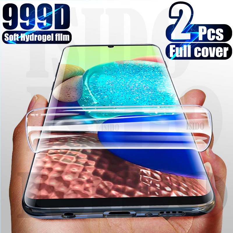 999D Hydrogel Film Screen Protector For Samsung Galaxy S10 S20 S8 S9 Plus Note 10 20 Ultra A51 A71 A70 A50 A40 A31 M21 Not Glass