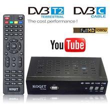 HD 1080P H264 H265 dvb-t2 dvb-c odbiornik TV dvb t2 hevc 265 tuner mpeg4 cyfrowy TV Box kabel dvbc Tuner Wifi Youtube DVB-kabel tanie tanio KOQIT DIGITAL Youtube via Wifi DVB-T2 DVB-T Digital(AC-3) decoding DVB-T DVB-T2 C Dual USB Host Free DVB-C Cable Receiver